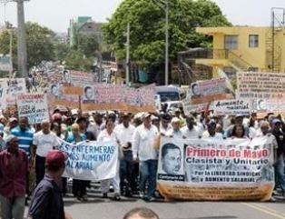 Marcha de trabajadores dominicanos