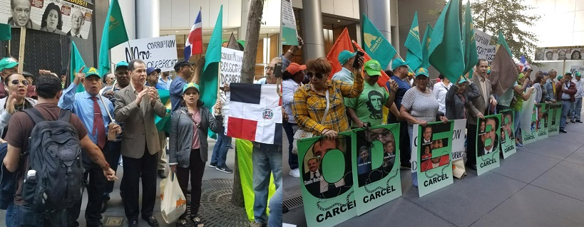 Dominicanos protestan frente a ONU por expediente Odebrecht